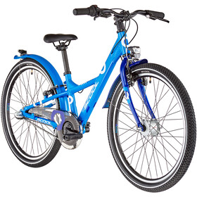 s'cool XXlite alloy 24 3-S Kinderen, blue/deepblue